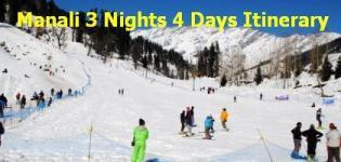 Manali 3 Nights 4 Days Itinerary - Manali Itinerary 3 Nights 4 Days