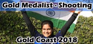 Manu Bhaker Gold Medalist in Commonwealth Games 2018 for Shooting 10m Air Pistol Category