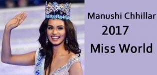 Manushi Chhillar Miss World 2017 from Haryana India