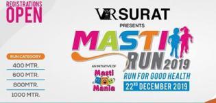 Masti Run 2019 in Surat on 22nd December - Venue Details