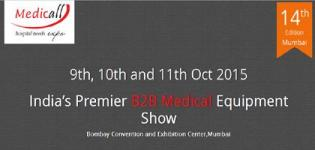 Medicall Presents International Hospital Equipment Expo 2015 in Mumbai from 9th to 11th October