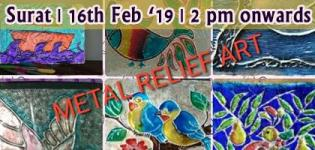 Metal Relief Art Workshop 2019 in Surat - Art and Hobby Workshop Details