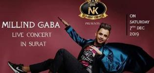 Millind Gaba Music MG Live Concert 2019 in Surat at Jolly Party Plot on 7th December