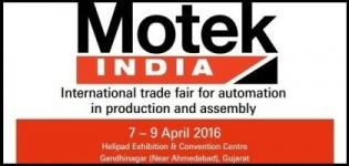 Motek India 2016 Gandhinagar - International Trade Fair for Automation in Production and Assembly