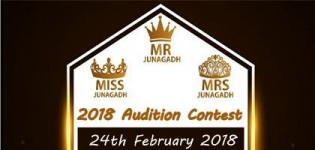 Mr Mrs & Miss Junagadh 2018 Audition Contest - Date Venue Details