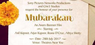 Mubarakan Hindi Movie 2017 - Release Date and Star Cast Crew Details