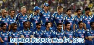 Mumbai Indians Won IPL 2015 Final against Chennai Super Kings on 24 May 2015
