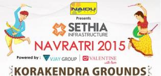 Naidu Club Presents Navratri Mahotsav 2015 at Borivali Mumbai at Korakendra Grounds