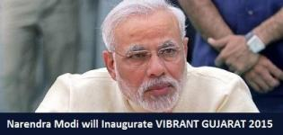 Narendra Modi will Inaugurate Vibrant Gujarat 2015 on 11 January