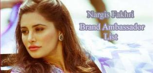 Nargis Fakhri Brand Ambassador List - Endorsement Photo Gallery