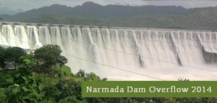Narmada Dam Overflow 2014 Latest News - Sardar Sarovar Dam Overflowing Photos 2014