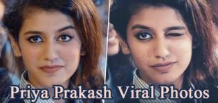 National Crush Priya Prakash Viral Photo Of Wink And Smile