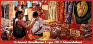 National Handloom Expo 2014 at Bodakdev Ahmedabad Gujarat
