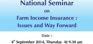 National Seminar on FARM Income Insurance on 4 September 2014 at Gandhinagar Gujarat