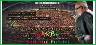 Navratri Garba Mahotsav 2015 with Shri Atul Purohit at East Rutherford NJ by United Entertainment