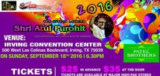 Navratri Garba Mohatsav 2016 in Irving Texas with Atul Purohit at Irving Convention Center