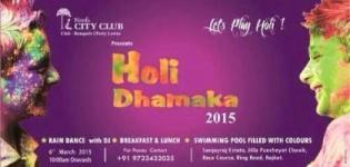 Neel's City Club presents Holi Dhamaka Party 2015 with DJ & Rain Dance in Rajkot