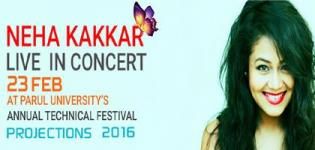 Neha Kakkar Live Concert 2016 in Vadodara at Parul University on 23rd February