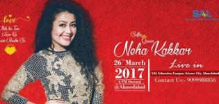 Neha Kakkar Live Concert 2017 in Ahmedabad at SAL Educational Campus