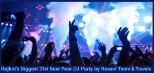 New Year DJ Party 2015 at Tulip Party Plot Rajkot with DJ Mayur RJ Nishit by Kesavi Tours and Travels