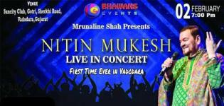 Nitin Mukesh Live in Concert 2019 Vadodara at Suncity Club & Resort