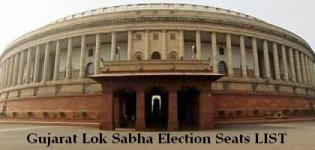 Number of Gujarat Lok Sabha Seats - Total List of Gujarat Lok Sabha Constituencies Party Wise