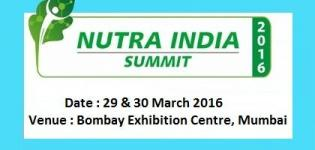 Nutra India Summit Mumbai 2016 - Indias Flagship Nutra Ingredients and Finished Products Show