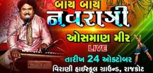 Osman Mir in Rajkot at Virani High School Ground for Bye Bye Navratri 2015 Presents by ETV Gujarati