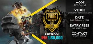 Paradox PUBG Mobile Cup 3.0 - Online Squad Tournament Season 3 Details