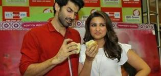 Parineeti Chopra and Aditya Roy Kapur Promotes Daawat-E-Ishq on Big FM Studio Mumbai