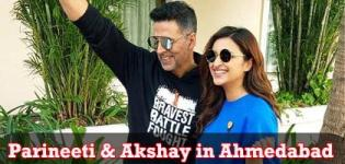 Parineeti Chopra and Akshay Kumar in Ahmedabad for Promotion of Kesari Movie