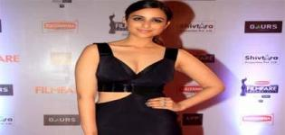 Parineeti Chopra in Black Thigh Split Gown at 61st Filmfare Awards 2016 - Latest Images