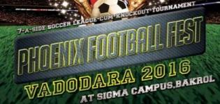 Phoenix Football Fest 2016 in Vadodara at Sigma Institute of Engineering on 21 January