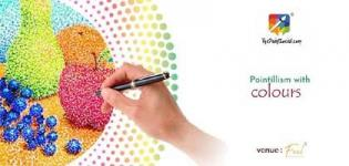 Pointillism with Colours Workshop 2018 Arrange by The Paint Social in Surat