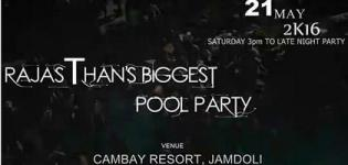 Pool Party 2016 in Jaipur - Grand Aqua Night at Cambay Resort Rajasthan