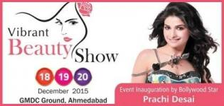 Prachi Desai at Inauguration of Vibrant Beauty Show 2015 in Ahmedabad at GMDC Ground