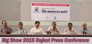 Press Conference Photos of Big Show 2015 at Rajkot Engineering Association on 16 October