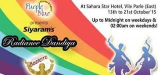 Purple Blue Events Presents Siyaram Radiance Dandiya 2015 in Mumbai at Hotel Sahara Star