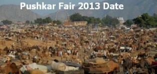 Pushkar Mela 2013 Date - Pushkar Fair Date 2013