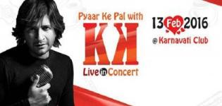 Pyar Ke Pal with KK Live in Concert in Ahmedabad Gujarat on Valentine Day 14th Feb 2016