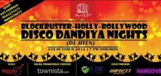 Blockbuster Holly Bollywood Disco Dandiya Night in No Limits Lounge and Pub Bangalore