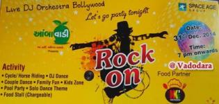 ROCK ON 31st December 2014 Party in Vadodara at Aambawadi Present by SPACE AGE Group
