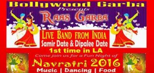 Raas Garba 2016 in California at UCI Bren Event Center with Samir Date & Dipalee Date