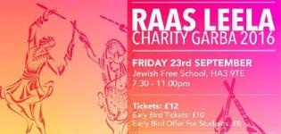 Raas Leela Charity Garba 2016 in London at Jewish Free School Kenton