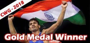 Rahul Aware Wins Gold Medal in Commonwealth Games 2018 for Wrestling