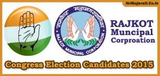Rajkot Congress Candidates Name List for RMC Election 2015 (Municipal Corporation / Mahanagarpalika)