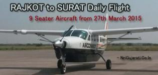Rajkot to Surat Flight - New Daily Flight of 9 Seater Aircraft from 27th March 2015