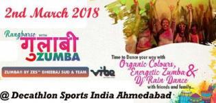 Rangbarse Gulaabi Zumba 2018 in Ahmedabad Venue and Date Details