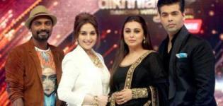 Rani Mukherjee in Black Anarkali Dress on Jhalak Dikhhla Jaa Season 7