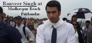 Ranveer Singh at Madhavpur Beach near Porbandar Gujarat for Shooting of New Car Model